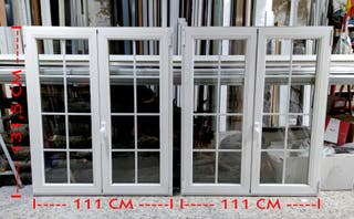 2 Ventanas abatibles 111 x 131,5 cm (Con Persiana)