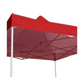 Carpa 3x3 Eco - Rojo, con 3 laterales
