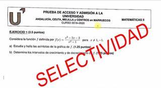 SELECTIVIDAD Y PRUEBAS DE ACCESO MATEMÁTICAS