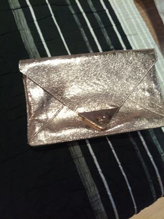 bolso/cartera de mano en dorado