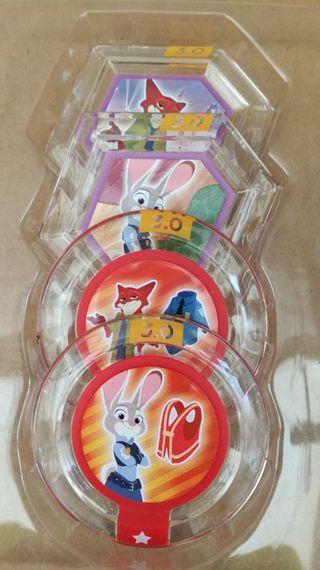 Pack disc fichas walt Disney y figuras