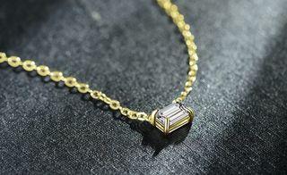 Colgante mujer plata 925 chapado oro turmalina bla