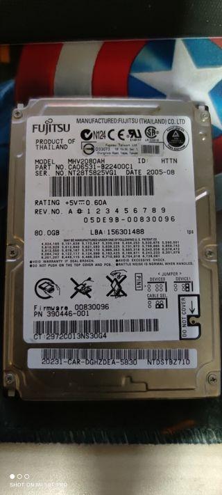 disco duro de 80 Gb