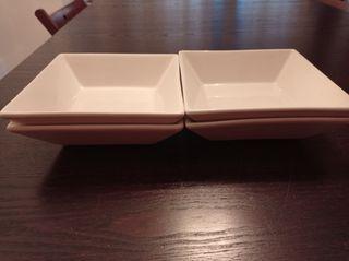 Vajilla: cuencos, plato, plato de salsas