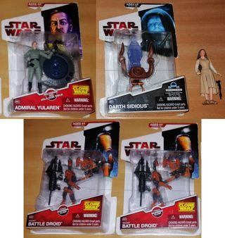 Star Wars Leia, Sidious, Admiral Yularen y Droid