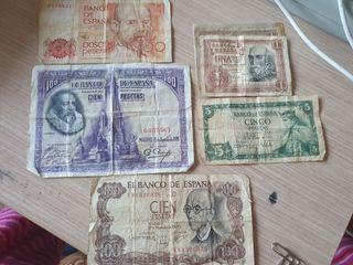 lote billetes peseta antiguos