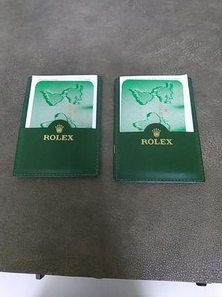 2 Tarjeteros Rolex