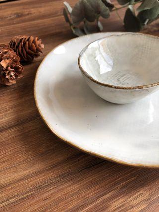 Plato grande gres cerámica