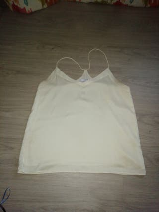 camiseta mango color crudo