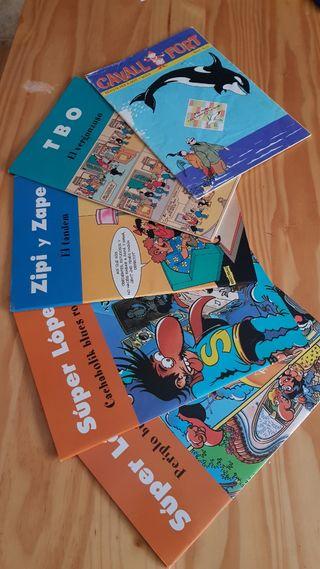 5 comic 2 super López,1 zipi zape, 1 tbo ,1 cavall