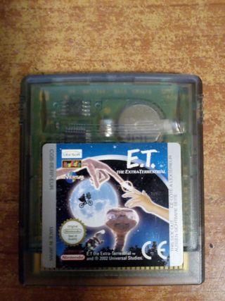 Juego Game boy color E.T el extraterrestre .