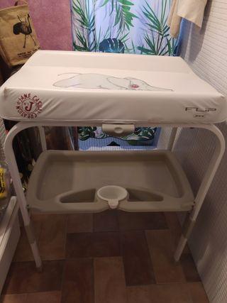 bañera cambiador bebe marca Jané Flip