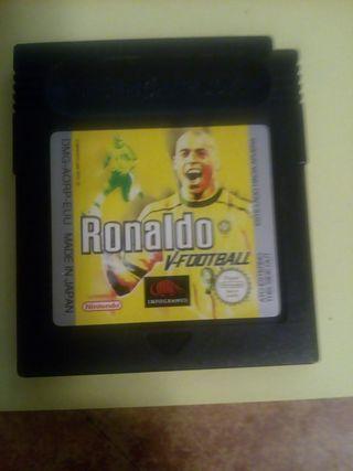 Ronaldo V-Football de game boy color.