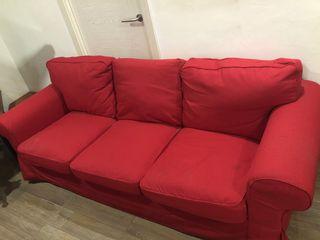 Sofas 3+2 en rojo