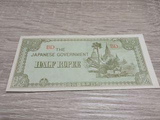 billete buena(Myanmar) 1/2rupia ocupacion japonesa