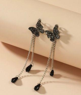 Pendientes Con Cadena Con Diamante De Imitación