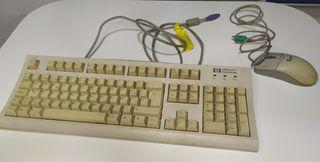 Teclado y Ratón ordenador Vintage
