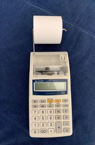Calculadora SHARP impresora