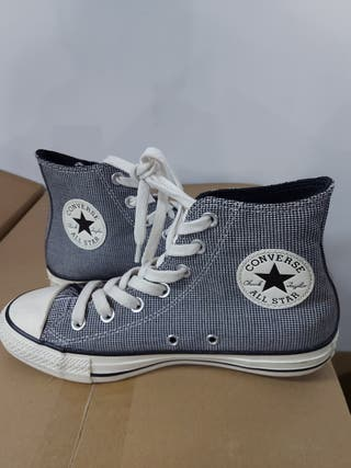 zapatillas converse ctas hi black & white