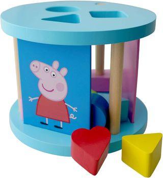 Peppa Pig Caja de Madera con formas geometricas.