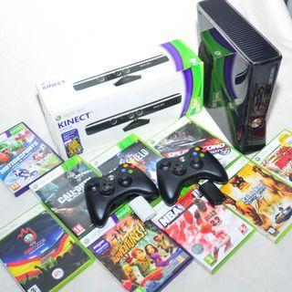 Xbox 360 + Kinect + Juegos + Mandos