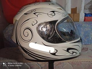 casco integral blanco