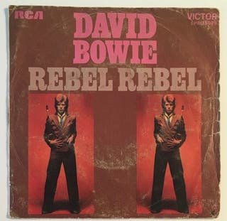 DAVID BOWIE Rebel Rebel Disco Vinilo Single
