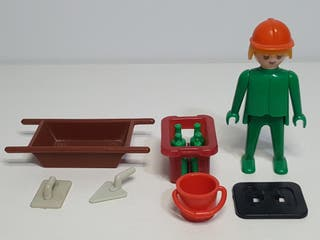Playmobil 3312 Antiguo Peon Obra Obrero Albañil Co