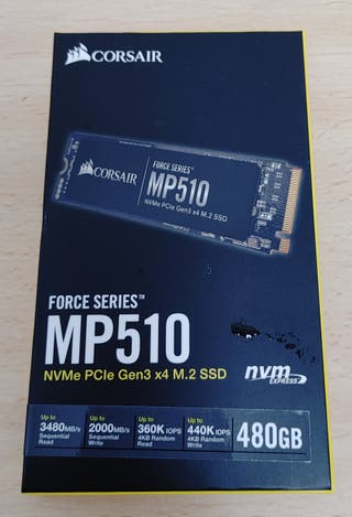Disco SSD 480 GB Corsair MP510 M2 NVMe PCIe Gen3