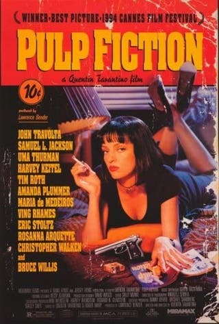 póster, posters pulp fiction.