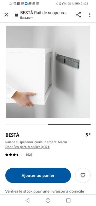 Ikea Besta 20999 enganche para mueble suspension