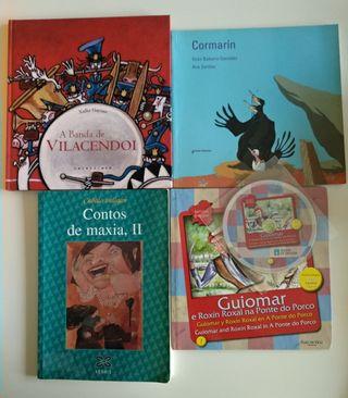 Lote libros en gallego.