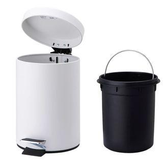 Cubo basura DOBLE pequeño PEDAL automático tapa