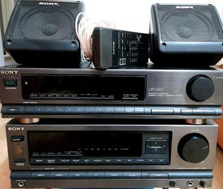 Amplificador y sintonizador hifi.