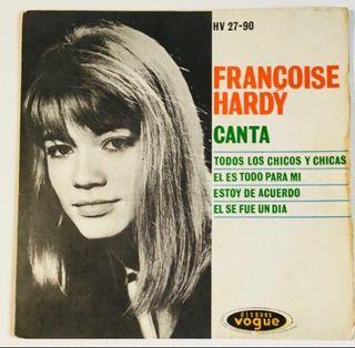 FRANCOISE HARDY Disco Vinilo EP con 4 temas