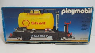 Playmobil 4107 Antiguo Vagon Cisterna Shell