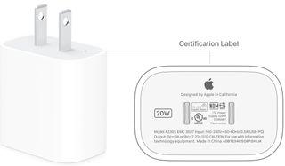 Cargador carga rápida Apple 20w EEUU