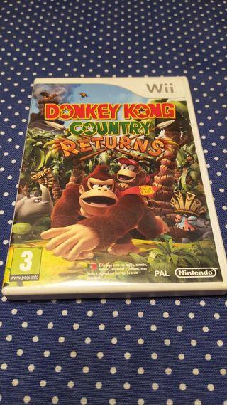 Juego Donkey Kong Country Returns, para Wii