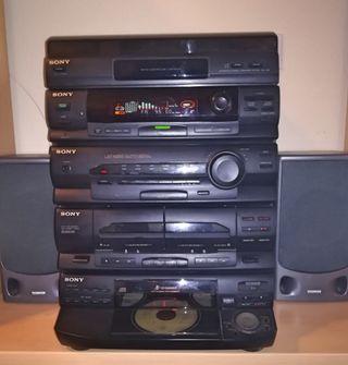 Equipo Música Hi-Fi Sony LBT-N355 con Tocadiscos