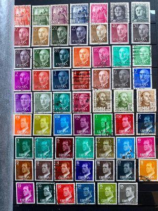 Lote de 60 sellos de Franco y reyes