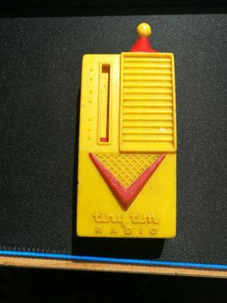 Mini Radio de Galena 1958 Tiny Tim de USA. Vintage