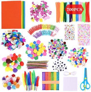 Kit de Manualidades para niños 700 piezas.