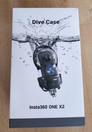 INSTA360 ONE X2 cámara acción carcasa acuatica