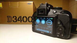 Nikon D3400 + 18-55 (sólo 8000 disparos!!)