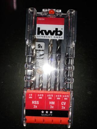 Caja de brocas para metal, madera y hormigón, KWB