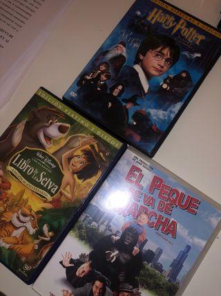 DVD Harry Potter, el libro de la selva, el peque..