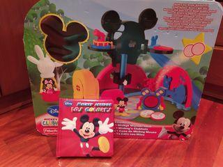 Casa de Mickey Mouse + Regalo libro puzzle Mickey