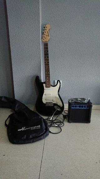 Guitarra nueva+ amplificador+ funda