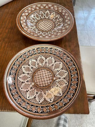 Pareja de platos marroquíes