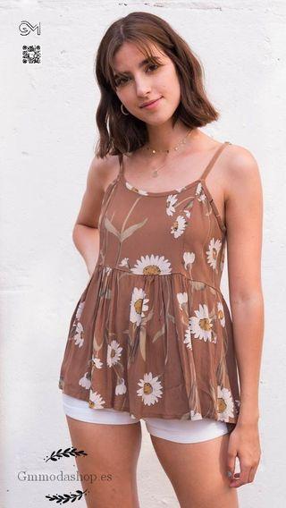 camiseta tirante floral S-L